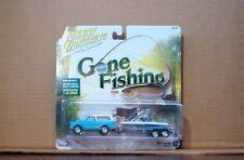 Johnny Lightning 1:64 Gone Fishing Set 1969 Chevy Blazer with Boat & Trailer