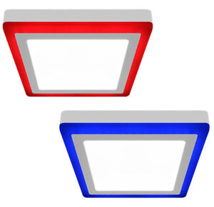 BLUE RED 18W LED SURFACE MOUNT SQUARE Ceiling Panel Light Two Colour Panel