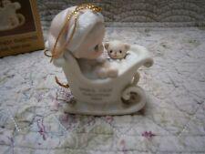 Mib Precious Moments Ornament Babys 1st First Christmas 1988 Boy/Bear/Sled