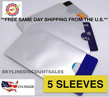 5pcs RFID Blocking Sleeves, Card Protector, Credit Card Secure Protection Shield
