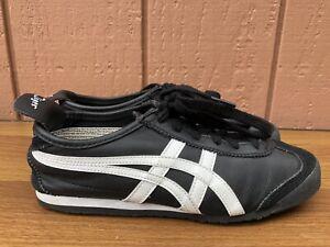 Asics Onitsuka Tiger Mexico 66 Shoes Women US 6.5 DL408-9001 Black White C8