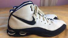 41c85bb64552 NIKE SHOX ELITE FLIGHT Men s White Navy Basketball Shoes 324826-142 - Size  14