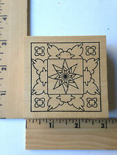 Rare - Outlines Rubber Stamps - Sq. Med Frame 1  - NEW