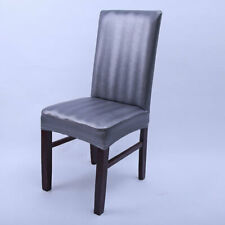 Leather Elastic Chair Cover Dining Stretch Chair Cover for Weddings Home Supply