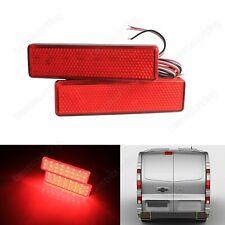 2x Vauxhall Opel Vivaro Movano A Red LED Rear Bumper Reflector Brake Tail Light