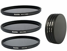Haida ND Graufilterset ND8x, ND64x, ND1000x -  62mm inkl. Stack Cap
