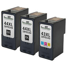 3pk for Lexmark 44XL 43XL 18Y0144 18Y0143 Black & Color Ink Cartridge 1520 X7550