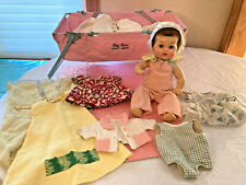 Tiny Tears American Character Vtg 1950s Baby Doll Clothing Lot Car Bed