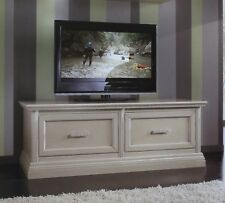 MOBILE BASE PORTA TV PLASMA IN LEGNO LACCATO 2 CASSETTONI x SALA SOGGIORNO 3053