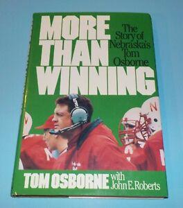 Bob Devaney Tom Osborne Dual Signed Autographed Book More Winning Rare JSA LOA