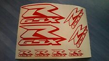 Suzuki GSXR GSX-R Emblems / Stickers / Decals assorted- 8 total, multiple colors