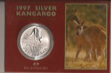 AUSTRALIA 1997 $1 KANGAROO .999 SILVER 1oz  UNCIRCULATED COIN