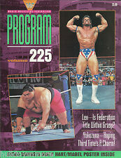 WWF Wrestling Program Magazine Volume 225 Lex Luger Yokozuna WWE