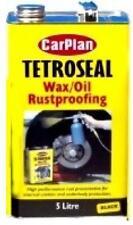 Tetroseal Wax Oil Black 5 Litres Carplan Waxcoyl Rustproof Protector