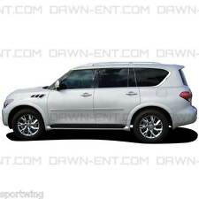 For: INFINITI QX56; PAINTED Body Side Mouldings With Chrome Insert 2011-2013