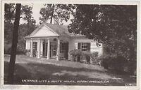1950 WARM SPRINGS Georgia Ga RPPC Postcard LITTLE WHITE HOUSE Entrance