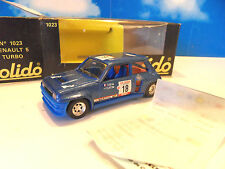 SO 29 ) RENAULT 5 TURBO en BO ref 1023 SOLIDO 1/43ème