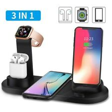 3in1Qi Fast Wireless Charging Dock Stand Station for Apple Watch Airpod iPhone
