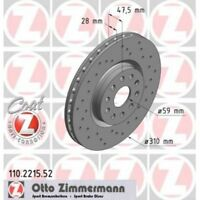 ZIMMERMANN Brake Disc SPORT BRAKE DISC COAT Z 110.2215.52