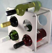 BOTTIGLIA di vino Rack free standing - 5 PORTABOTTIGLIE Bianco