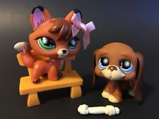 Authentic Littlest Pet Shop LPS Fox and the Hound Dog 807 & 808 USA Shipping