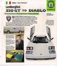 LAMBORGHINI Timeline History Brochure:COUNTACH,350 GT,