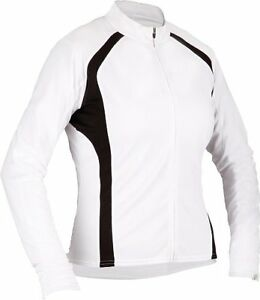 Cannondale Re-Spun Semi Fitted Wom's Wht Long Sleeve MD Cycling Jersey Shps FREE