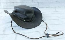 Outback Trading Company Aussie Wagga Wagga Hat Leather Size Small 1367