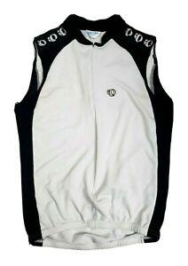 PEARL IZUMI WOMEN CYCLING VEST SHIRT SIZE L WHITE / BLACK COLORS MESH BACK