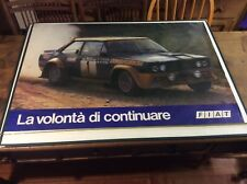 FIat Abarth 131 Group 4 official Fiat display Poster Very Rare 100% Original