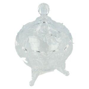 Royal Crest con Pies Vidrio Cajita Joyero LP27348