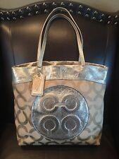 Coach Laura Secret Admirer Beige Gold metallic Tote  Bag