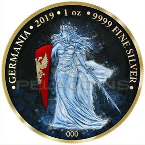 Germania ICE 2019 5 Mark SpaceX Series 1oz Silver Coin