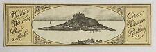 VINTAGE GREAT WESTERN RAILWAY HOLIDAY HAUNTS BOOKMARKER: St. MICHAEL'S MOUNT