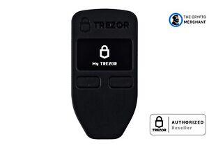 Trezor One Black Bitcoin Ethereum Hardware Wallet BRAND NEW, AUTHORIZED RETAILER