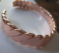 COPPER MAGNETIC CHUNKY BRACELET ARTHRITIS Men Women 6 magnets CUFF
