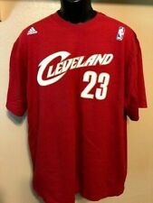 0144b4c49 RARE VTG LEBRON JAMES CLEVELAND CAVALIERS ADIDAS T-SHIRT MENS XL WINE RED