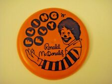Vintage 1987 87 Ronald McDonald Fling 'N' Fly Flying Disc Frisbee Happy Meal Toy