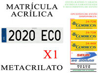1 NUEVA MATRICULA ACRILICA METACRILATO 52x11cm COCHE ALTA CALIDAD NIKKALITE