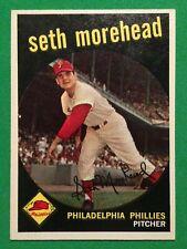 New listing 1959 Topp#253, Seth Morehead, Philadelphia Phillies, Pitcher.