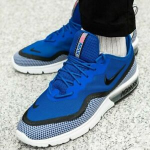 NIKE AIR MAX SEQUENT 4.5 SE Trainers Gym Casual - UK Size 10.5 (EUR 45.5) Blue