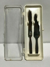 A LOT OF 2  PINSTRIPING BRUSHES   USED  1 is a MACK # 4  1 not marked ORIG CASE