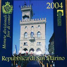 Monete divisionali e 2€ commemorativi 2004 FDC BU Set Repubblica San Marino Rari