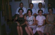 FUJICOLOR 35mm Slide Handsome Men Pretty Women Dresses Sofa Fashion 1960s?