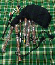 SCOZZESE Great Highland Cornamuse LEGNO DI ROSA SET COMPLETO / GAITA