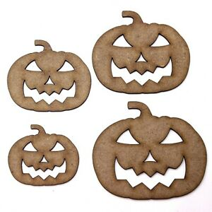 Pumpkin Craft Shape, Various Sizes, 2mm MDF Wood. Halloween Jack O Lantern