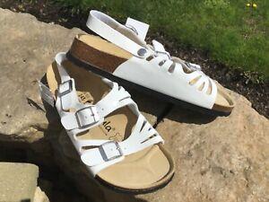 NEW Women's size 7 BIRKENSTOCK Betula white sandals