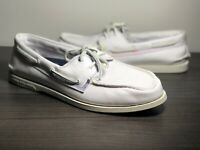Sperry Top-Sider Men's Authentic Original Pride Boat Shoe Size 12 White