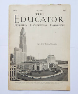 The Educator Magazine Handwriting Engrossing Typography (May 1938)