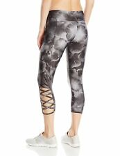 NWT $69 Onzie Yoga Weave Capri Legging #289 in Petunia Floral Print sz M / L